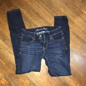 American Eagle super stretch dark wash jeans
